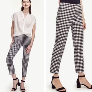 Ann Taylor Devin crop navy gingham ankle pants